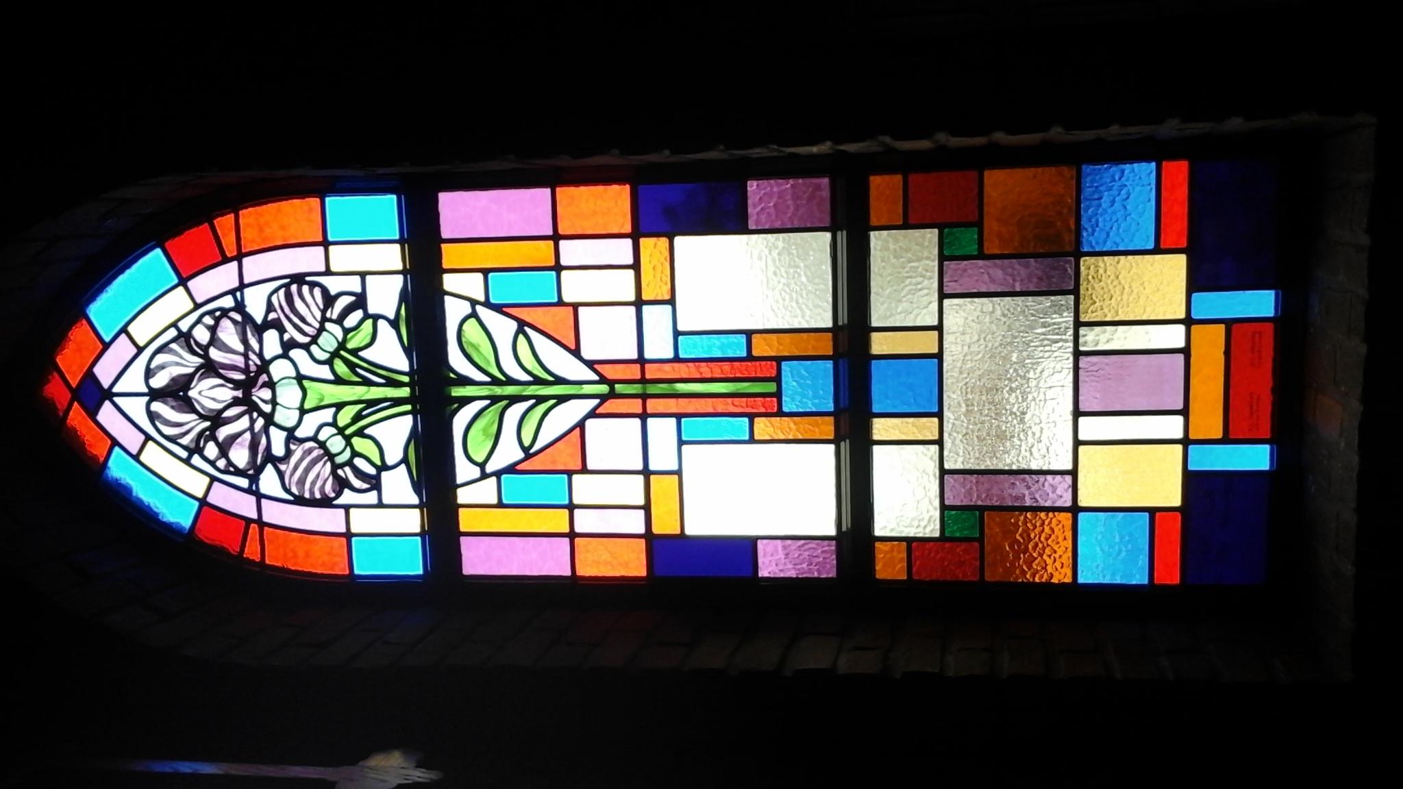 Glas-in-lood ramen