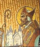 Patroon van onze kerk de H. Willibrordus.
