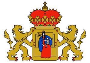 Het huidige wapen van de provincie Drenthe
